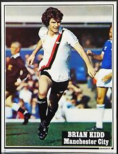 FOOTBALL PLAYER PICTURE BRIAN KIDD MANCHESTER CITY SHOOT