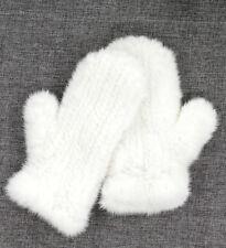 Luxury Fashion Women's Winter Genuine Mink Fur Knitted Gloves Mittens Elastic