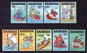 Barbuda 1981 Walt Disney Cartoon Characters MNH set S.G. 550-558