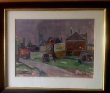 Otto Schirop 1904-1958 Hamburger Maler Gouache Hamburg Künstler Gemälde 1947