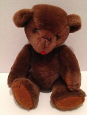 Vintage Small Jointed Teddy Bear Brown 10 Inches High Kent Collectibles 1985