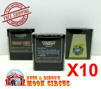 10x COLECOVISION GAME CARTRIDGE - CLEAR PLASTIC PROTECTIVE BOX PROTECTOR SLEEVE