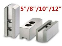 """5""""/8""""10""""/12"""" Soft Jaws For Hydraulic Chuck Durable Steel Lathe Chuck Jaw"""