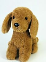 "Vintage Russ Berrie PUDDLES Brown Puppy Dog 12"" Plush Stuffed Animal 332 Collect"