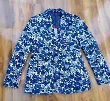 BODEN LADIES FABULOUS BLUE FLORAL CASUAL COTTON JACKET SIZE 38R. BRAND NEW