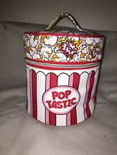 POPCORN Pop-Tastic Cylinder Round Make Up Bag Zip Case SOAP & GLORY Rodnik Band
