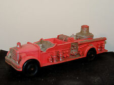 Auburn Red Rubber Fire Truck #2 500 on Back and Front fender Plate area (9099)