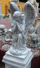 Gartenfiguren, Grabengel 76 cm groß, Engel, Steinguss, Grabschmuck, Gartendeko