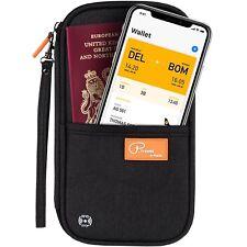 Travel Wallet Organiser Rfid Blocking Unisex Phone Pocket Passport Holder Cards