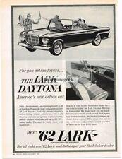 1962 Studebaker Lark Daytona Vtg Print Ad