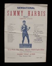 >Original 1920s-30s BLACK BOXER Broadside Poster Akron, Ohio's SAMMY HARRIS