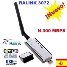 ▶ADAPTADOR WIFI N USB 300 MB Mbps ANTENA Ralink RTL3072 VIDEO TV wireless b/g/n
