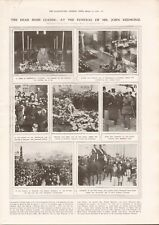 1918  ANTIQUE PRINT WW1 -FUNERAL OF IRISH LEADER JOHN REDMOND