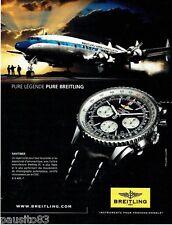 Publicite ADVERTISING 116 2011 breitling watch navitimer pure legend