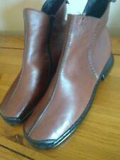 NEW RIEKER Low heel comfortable brown ankle Boots UK 6 EU 39
