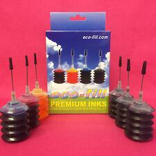 6 INK CARTRIDGE REFILLS FOR HP 301 XL DESKJET 1050A 2050A 2054A 2510 3050A 3052A