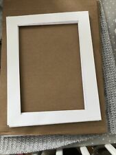 9 White Card Picture Mounts And 10 Backs Plus Plastic Sleeves