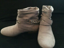 Juicy Couture  Women's size  7 Grey  Suede  Ankle Boots
