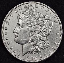 1902-p Morgan Silver Dollar.  A.U.  105242  (Inv. F)