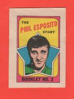 1971-72 O-Pee-Chee OPC  # 2 Phil Esposito  Booklet