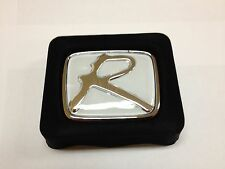 "WHITE ""R ""HONDA EMBLEM BADGE JDM CIVIC SI ACCORD HONDA INTEGRA TYPE R H LOGO"
