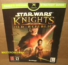 Star Wars Knights of the Old Republic Official Guide Book XBOX & 360 New