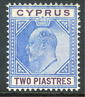 Cyprus 1902 blue/purple 2pi crown CA mint SG53