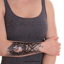 1x Einmal-Tattoo Temporary Haut Arm Tattoo Zombie Rome Clock Classic - HB035 (1)