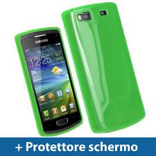 Verde Custodia TPU Gel per Samsung Wave 3 Bada S8600 GT-8600 Case Cover Rigida