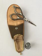 Nähetui mit Schere & Fingerhut Sewing Set Scissor & Thimble