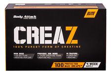 Body Attack CREAZ - 100 Caps 100% reines Creatin, hochkonzentriertes Kreatin NEU
