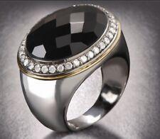 GRAN ANILLO: Plata de ley, Oro 18 quilates, diamantes, OniX