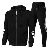 Mens Tracksuit 2 Piece Casual Pants Hoodie Sweatsuit Sweatshirt Sports Suit Set