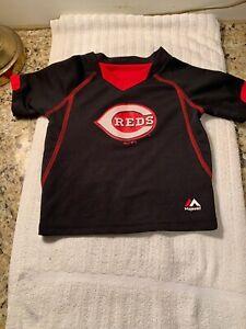 Cincinnati Reds Majestic Authentic MLB Shirt Size 18 Month Big Red Machine New