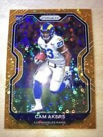 2020 Panini Prizm Cam Akers Rookie Orange Disco Prizm RC Los Angeles Rams