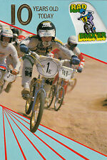 Vintage 1980's Kuwahara BMX Happy 10th Birthday Greeting Card ~10 Years Old