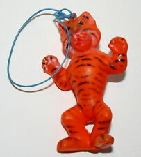 Vintage Plastic Toy Tiger Figure Hong Kong Esso Carnival Prize 1960s Nos New