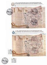 2013 550° anniversario definizione confini - Italia San Marino - mixed FDC