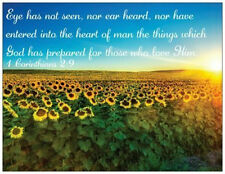 Bible Verse Prepared For Those Who Love God Refrigerator Magnet Sunflower Field