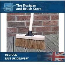 "10"" Soft Sweeping Yard Brush, Natural Broom Brush with Handle"