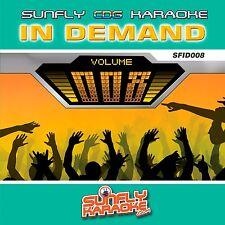 RARE KARAOKE TRACKS - VOL 08 - IN DEMAND SUNFLY SERIES - 15 SONGS