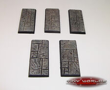 Wargames 5 x 25mm x 50mm Paved Stone / Dungeon Quest Resin Cavalry Bases