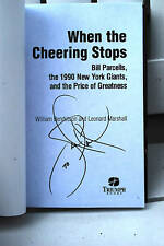 When the Cheering Stops signed by Leonard Marshall.