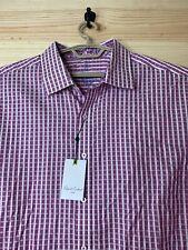 Men's NWT Robert Graham 3XL (XXXL) Button-Up Dress Shirt - Pink Checkered