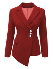 Womens's Long Sleeve Slim Blazer Suit Button Jacket Coat Outwear Tops Clothes