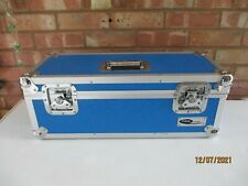 """Blue Neo Media 7"""" Record Case Vinyl Record Carry Case with Dividers"""