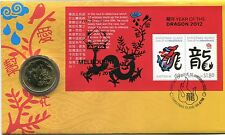 2012 Christmas Island Year of The Dragon FDC/PNC - APTA Melbourne Show 061/150