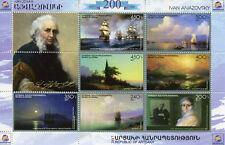 Karabakh Republic of Artsakh 2017 MNH Ivan Aivazovsky Painter 7v M/S Art Stamps