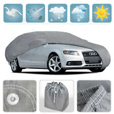 Large Car Cover Waterproof All Weather Protection 4 Layers Breathable Auto Cover
