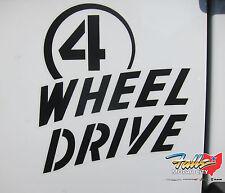 Jeep Wrangler Willys Wheeler 4 WHEEL DRIVE Black Sticker Decal Emblem Mopar OEM